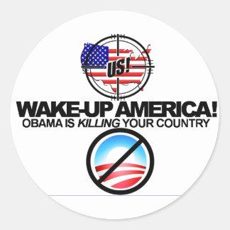 Extreme Anti Obama Jokes Sticker 01