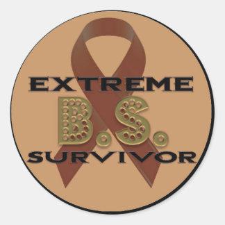 Extreme B.S. Survivor Stickers