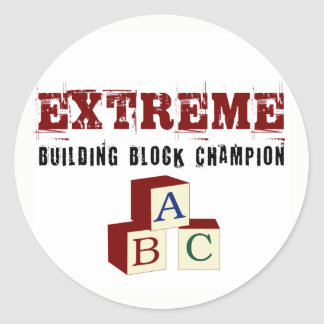 Extreme Baby Building Block Champion Stickers