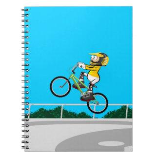 Extreme bicycle BMX raising flight Notebook