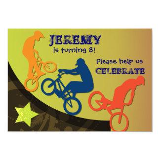Extreme Biking Custom BIrthday Invitation
