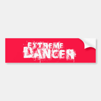 Extreme Dancer Whire Bumper Sticker
