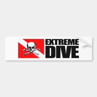 Extreme Dive (Skull) Bumpersticker Bumper Sticker