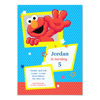 "Extreme Elmo Birthday 4.5"" X 6.25"" Invitation Card"