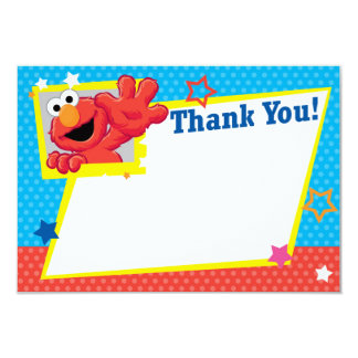 "Extreme Elmo Thank You 3.5"" X 5"" Invitation Card"