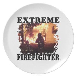 Extreme Firefighter Dinner Plates
