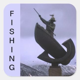 Extreme Fisherman Square Sticker