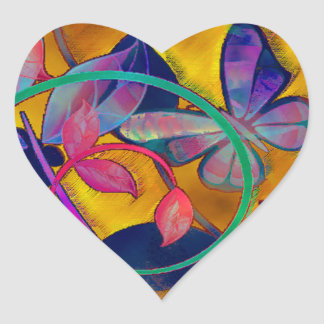 Extreme Floral Heart Sticker