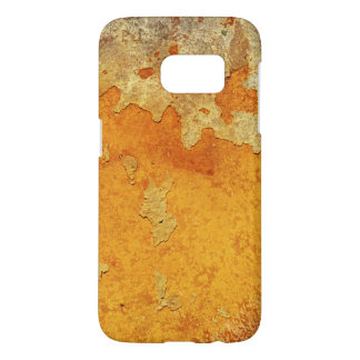 Extreme Grungy Orange Rust Stained Cement Samsung Galaxy S7 Case