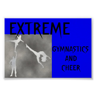 EXTREME GYMNASTICS AND CHEER POSTER