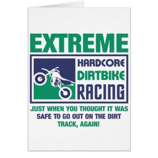 Extreme Hardcore Dirtbike Racing Card