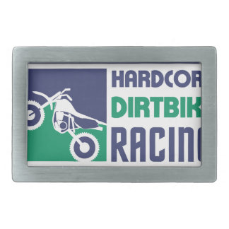 Extreme Hardcore Dirtbike Racing Rectangular Belt Buckle