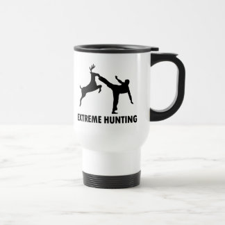 Extreme Hunting Deer Karate Kick 15 Oz Stainless Steel Travel Mug