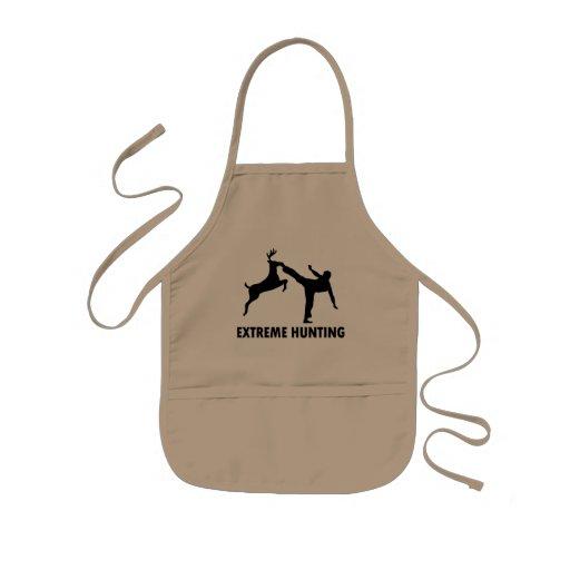 Extreme Hunting Deer Karate Kick Aprons