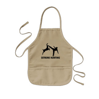 Extreme Hunting Deer Karate Kick Kids Apron