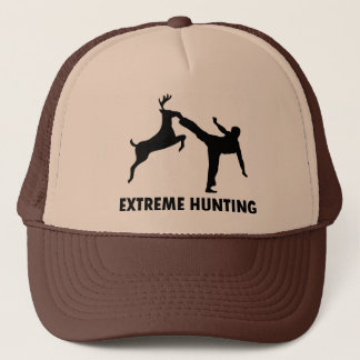 Extreme Hunting Deer Karate Kick Trucker Hat