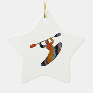Extreme Kayak Ceramic Ornament