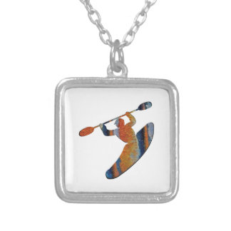 Extreme Kayak Silver Plated Necklace