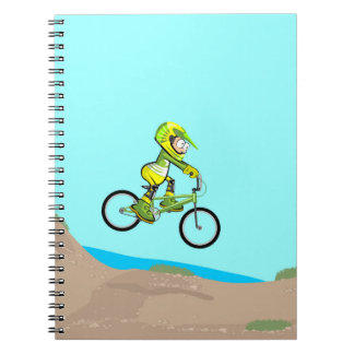 Extreme land bicycle BMX with obstacles Notebooks