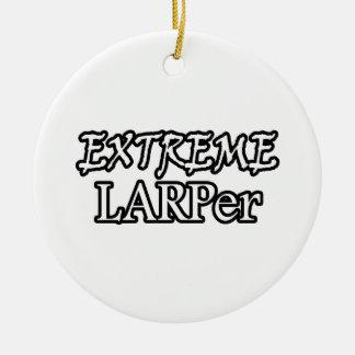 Extreme Larper Round Ceramic Ornament