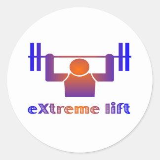 eXtreme lift Round Sticker