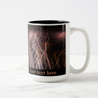 Extreme lightning bolts Two-Tone coffee mug