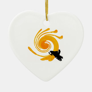 Extreme Manifestation Ceramic Heart Ornament
