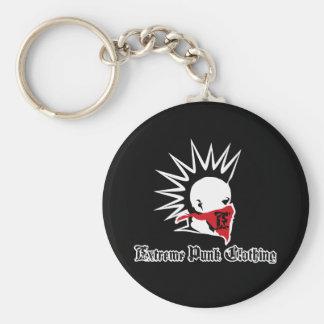 Extreme Punk Logo Button Keychain