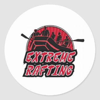 Extreme Rafting Classic Round Sticker