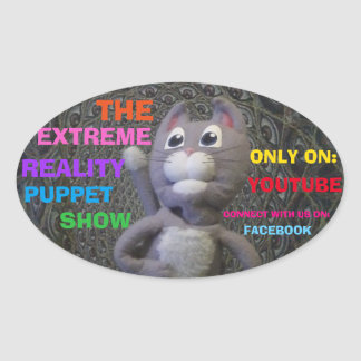 """EXTREME REALITY PUPPET SHOW STICKERS """"DAVE EAGER"""""""