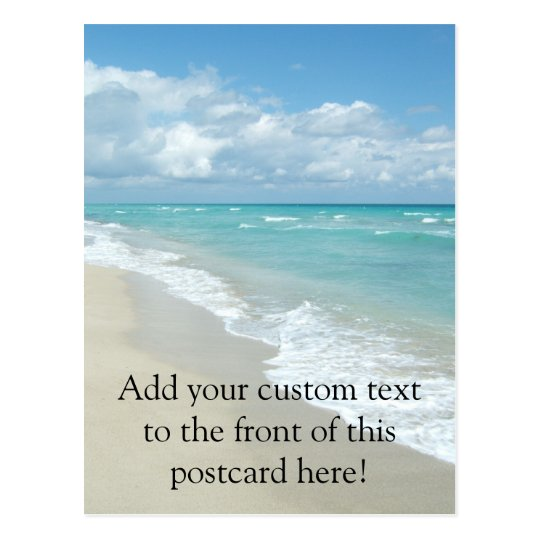 Extreme Relaxation Beach View White Sand Postcard