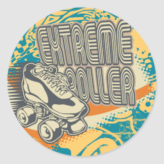 Extreme Roller Tshirts and Gifts Round Sticker