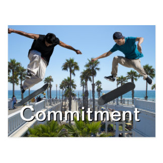 Extreme Skateboarding Commitment Card
