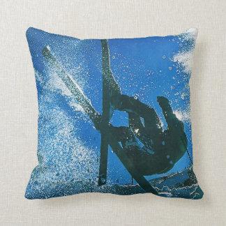 Extreme skiing, throw pillow