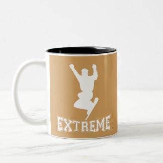 EXTREME Snowboard 2 (white) Two-Tone Coffee Mug