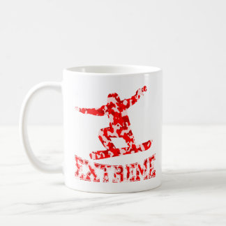 EXTREME Snowboarder 1 RED CAMO Coffee Mug