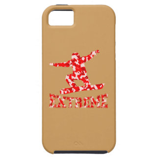 EXTREME Snowboarder 1 RED CAMO iPhone 5 Covers
