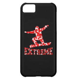 EXTREME Snowboarder 1 RED CAMO iPhone 5C Covers
