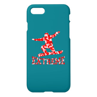 EXTREME Snowboarder 1 RED CAMO iPhone 7 Case
