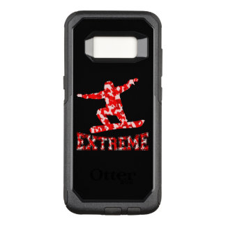 EXTREME Snowboarder 1 RED CAMO OtterBox Commuter Samsung Galaxy S8 Case