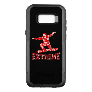 EXTREME Snowboarder 1 RED CAMO OtterBox Commuter Samsung Galaxy S8+ Case
