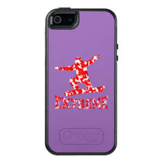 EXTREME Snowboarder 1 RED CAMO OtterBox iPhone 5/5s/SE Case