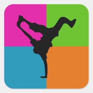 extreme sports - capoeira square sticker