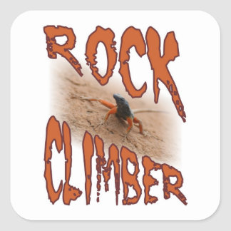Extreme sports lizard: Rock climbing / climber Square Sticker