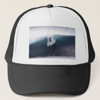 Extreme surfing big blue waves trucker hat