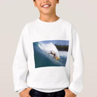 Extreme surfing tropical reef Indian ocean Sweatshirt