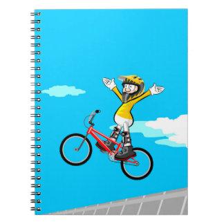 Extreme vertigo in this extreme bicycle BMX Notebook