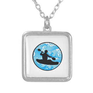Extreme Wave Runner Silver Plated Necklace