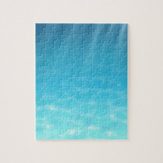Extremely Difficult Underwater Shades of Blue Jigsaw Puzzle