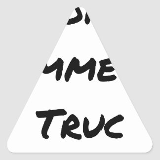 EXTREMELY LIKE a TRICK - Word games - François Triangle Sticker